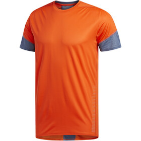 adidas 25/7 Rise Up N Run Maglietta a maniche corte Uomo, active orange
